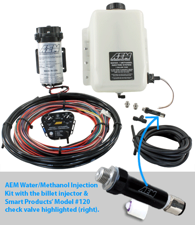 water/methanol injection kit with check valve